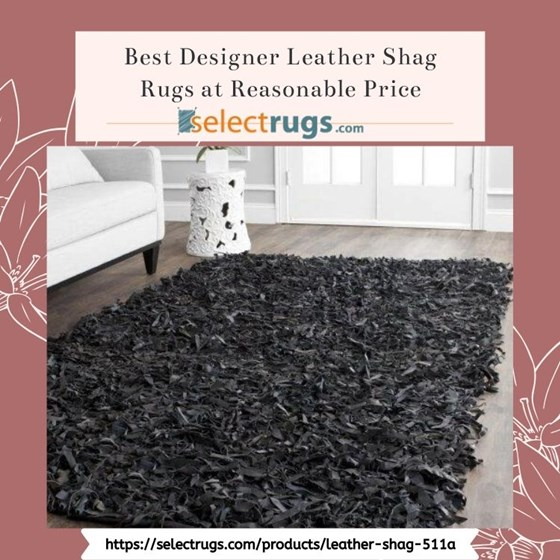 Area Rugs: Best Quality Online Leather Shag Rugs